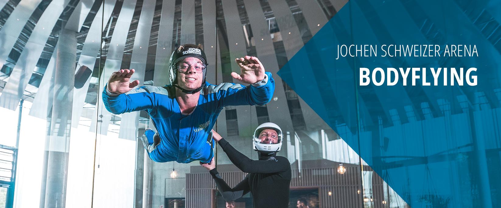 Bodyflying in der Jochen Schweizer Arena München