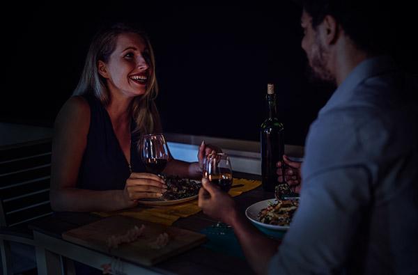 Dinner in the Dark in Linz für 2
